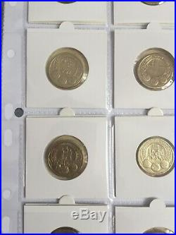 Set Of 44 Old Round £1 One Pound Coin Collection1983to2016 Every Circulated Coin