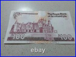 Set Of Three Uncirculated Royal Bank Of Scotland One Hundred Pound Notes £100