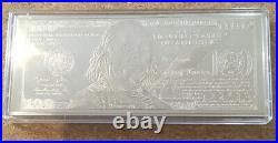 Silberbarren One Hundred Dollar Quater Pound Silver Note. 4oz/125g