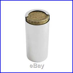 Silver One Pound Coin Holder. Hallmarked Sterling Silver One Pound Coin Holder