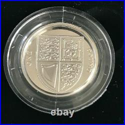 Simply-Coins 2016 SILVER PROOF SHIELD ONE 1 POUND COIN