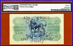 South Africa One Pound 1956 SPECIMEN Pick-93s GEM UNC PMG 65 EPQ