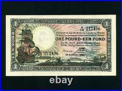South AfricaP-84c, 1 Pound, 1936 Sailing Ship EF+