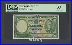 Southern Rhodesia One Pound 1-9-1950 P10fs Specimen About Uncirculated