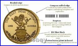 St. Helena UK 2012 1.05 Pounds One Guinea East India Company BU Gold Coin