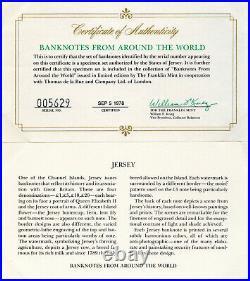 State of Jersey 1978 Specimen Set 1 5 10 20 Pound GEM UNC P-CS1 Queen Elizabeth