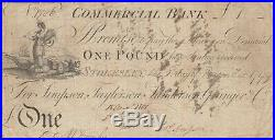 Stokesley Bank, Rare Provincial One Pound Banknote 1799