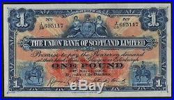 THE UNION BANK OF SCOTLAND LIMITED- £1 ONE POUND -1st August 1936