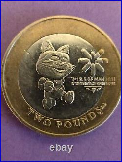 TOSHI CAT RARE 2011 IOM Coin1x Isle of Man £2 Two Pound Coin CIRCULATED