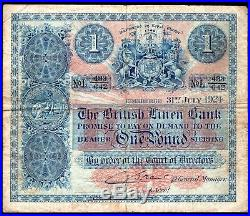 The British Linen Bank, One pound, 31-7-1924, L 433/642, (BNYB SC 202b), GF