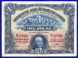 The Commercial Bank Of Scotland Limited One pound, 31-10-1925, 22/X 175264