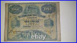 The Commercial Bank of Scotland Limited. One Pound Note. 1917