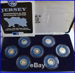 The Jersey Shipbuilding Series 1991-1994 silver proof one pound coin collection