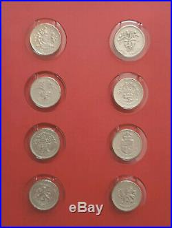 Twenty 20 X Round £1 One Pound Coins + Extended Albums Circulated & Uncirculated