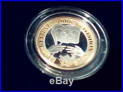 UK 2008 Olympic Handover 2 Pound Gold & Piefort Silver WithNGC PF69 & One Silver