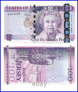 UNC Jersey £100 One Hundred Pound Banknote 2012 Diamond Jubilee Commemorative #2