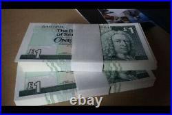 UNC Royal Bank Of Scotland £1 One Pound Banknote RBS 2001 UK British Bundle Wad