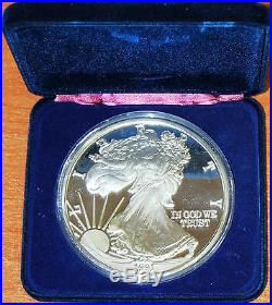 USA One Troy Pound Proof 12 oz Eagle 1991 Liberty Fine Silver 999 / onza ounce