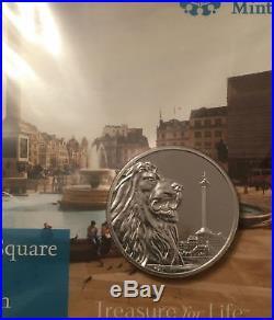Uk Royal Mint Trafalgar Square 999 Fine Silver One Hundred Pound £100 Coin 2016
