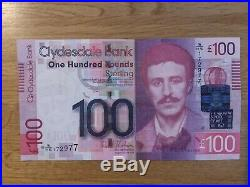 Uncirculated Clydesdale Bank Scotland One Hundred Pound Note £100