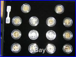 United Kingdom One Pound Coins, 25th Anniversary Silver Proof Collection