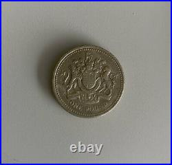 Very RARE Uncirculated 1983 Royal Arms One Pound Coin (Old Style)