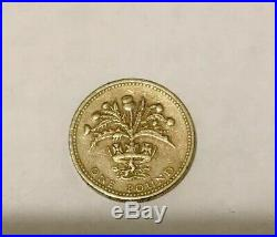 Very Rare (Scottish Thistle) Old One Pound Coin Year 1984