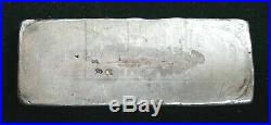 Vintage Poured One Pound Silver Bar. 999 PROPERTY OF 449.3g