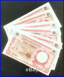 WHOLESALE 100 CIRCULATED NIGERIA £ 1 (ONE POUND) CATALOG # 8 of 1967 BIAFRA WAR