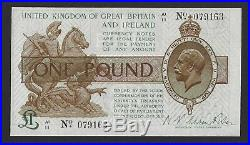 Warren Fisher £1 One Pound Treasury Banknote A1/11 (T31 1923) Near Uncirculated